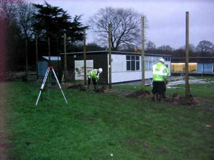 Taking measurements on site